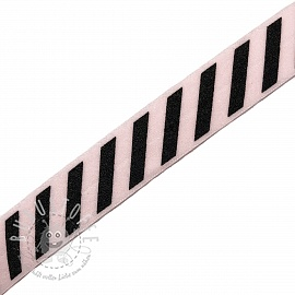Elastisches Schrägband Polyamid STRIPE 20 mm light pink
