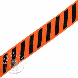 Elastisches Schrägband Polyamid STRIPE 20 mm orange