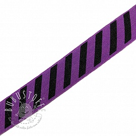 Elastisches Schrägband Polyamid STRIPE 20 mm purple