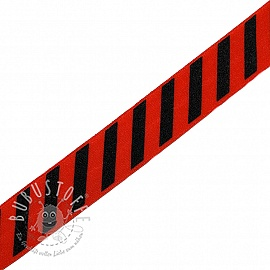 Elastisches Schrägband Polyamid STRIPE 20 mm red