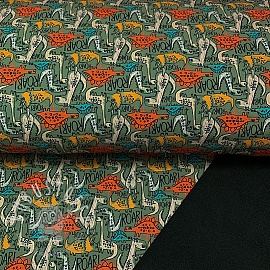 Softshell The dinos are back green digital print