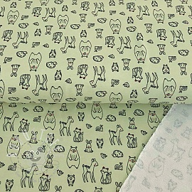 Sommersweat Adorable animals mint