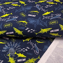 Sommersweat Awesome shark navy