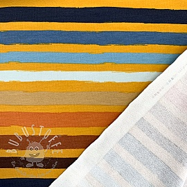 Sommersweat Colored stripes ochre