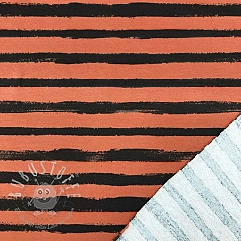 Sommersweat Groovy stripes ginger