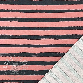 Sommersweat Groovy stripes old rose