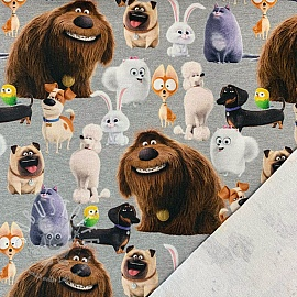 Sommersweat Pets characters digital print