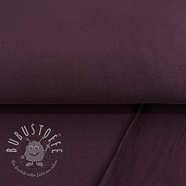 Sweat kuschel soft BIO aubergine