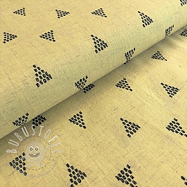 Viskosestoff leinen Triangles yellow