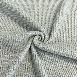 Waffelstoff SOFT light grey